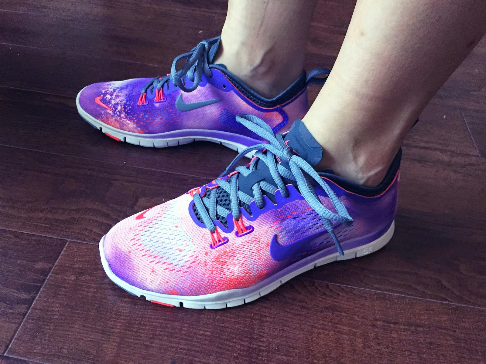 nike free 5.0 tr fit 4 purple venom\/atomic mango