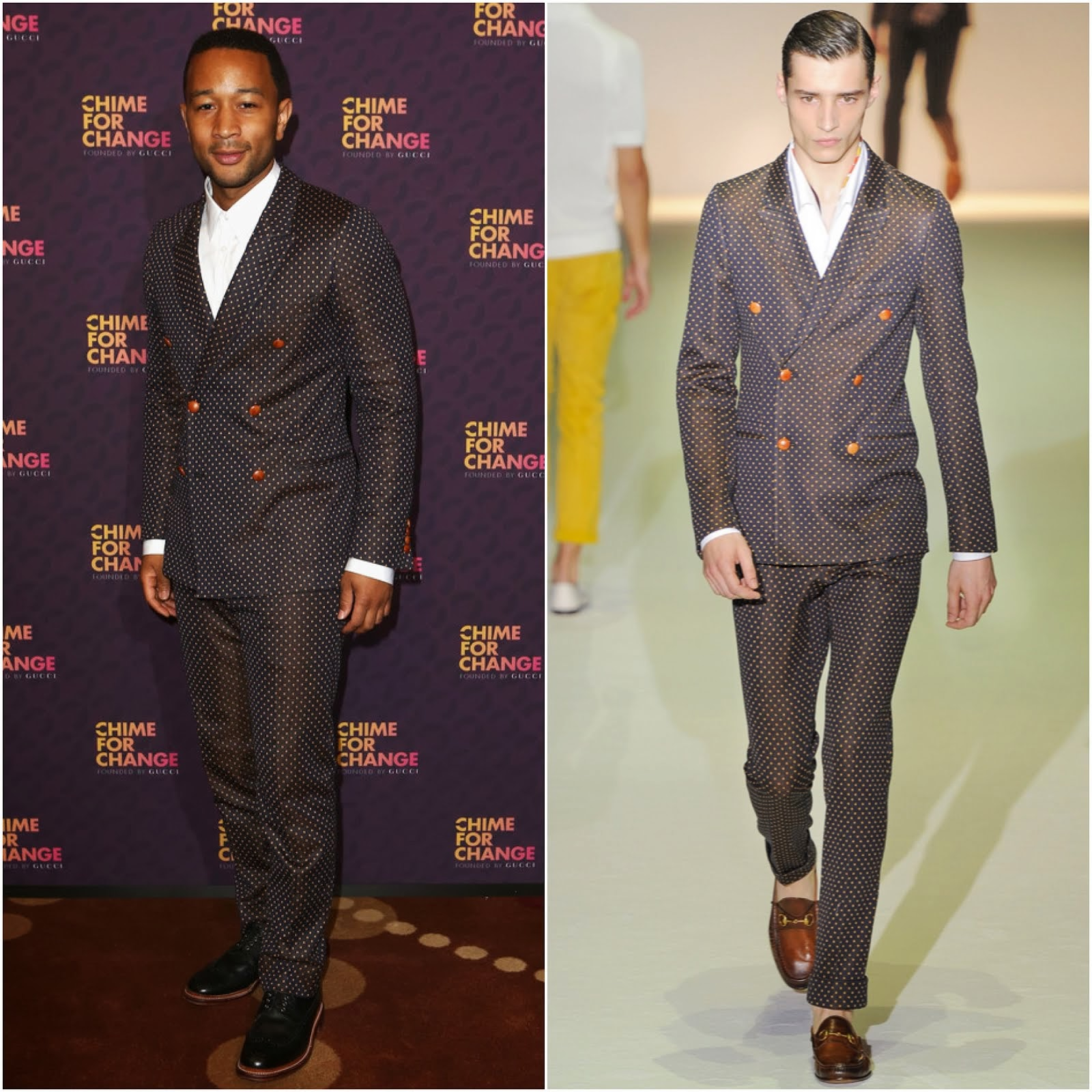 00O00 Menswear Blog: John Legend in Gucci - 'Chime For Change: The Sound Of Change Live' London June 2013 Concert