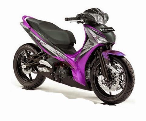 modifikasi motor supra x 125 ungu