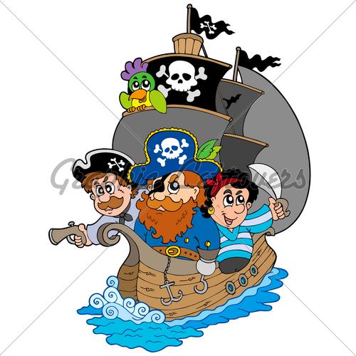 Cartoon pirate fifteen man on a dead man s chest yo ho ho and a