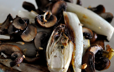 Roasted Belgian Endive and Cremini Mushrooms | Taste As You Go
