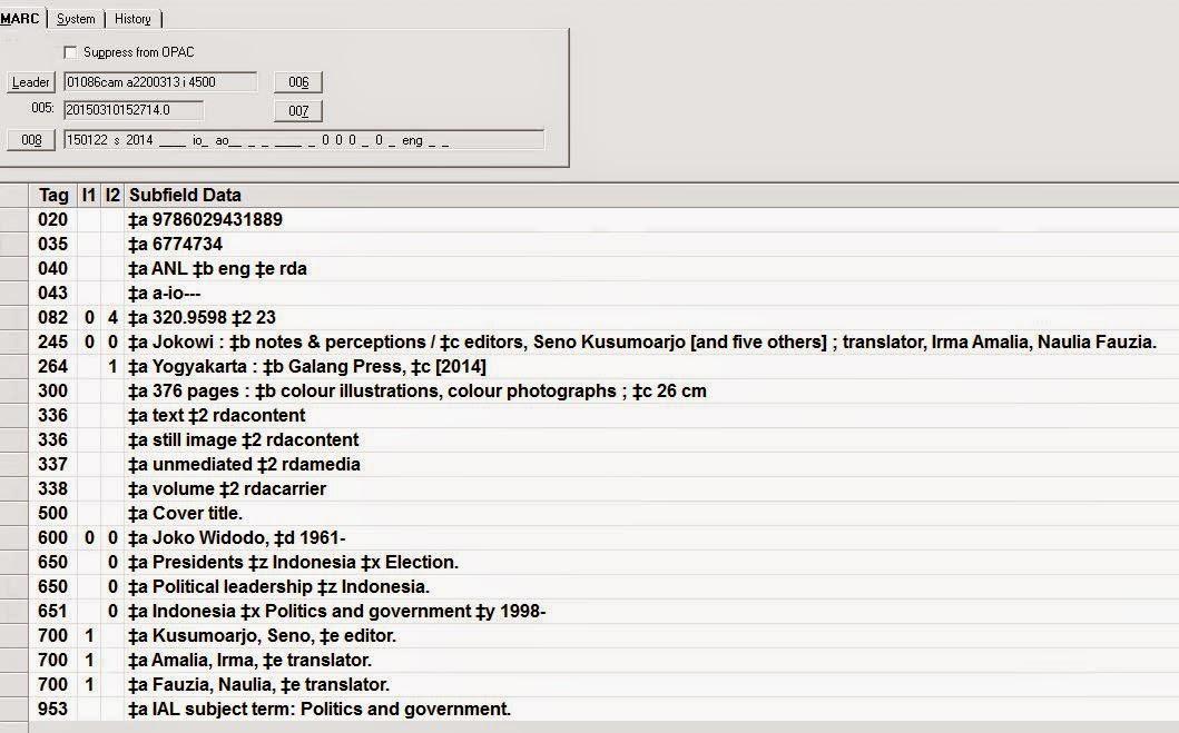 Resource Description And Access Rda Contoh Record Rda Pilihan