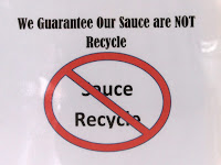 No recycled sauce