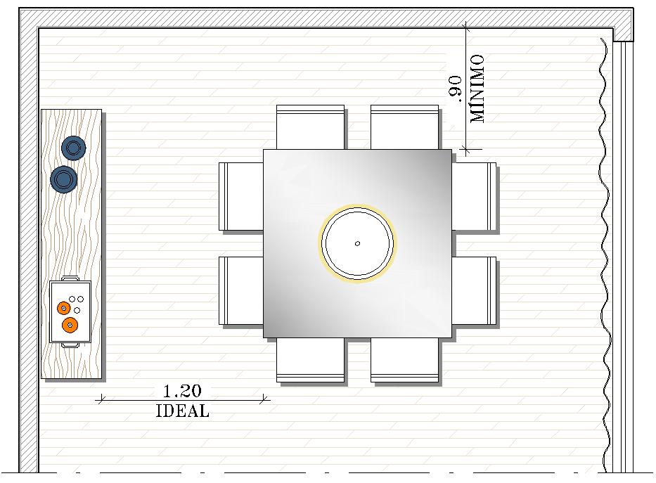 Tamanho De Uma Sala De Jantar Grande ~ Dicas e Ideias Mesa ideal