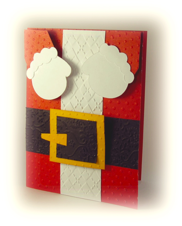 Postal santa claus scrapbook y m s - Postales navidad hechas por ninos ...
