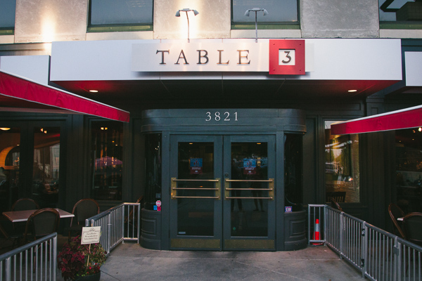 Dinner during restaurant week at Table 3 in Nashville Tennessee