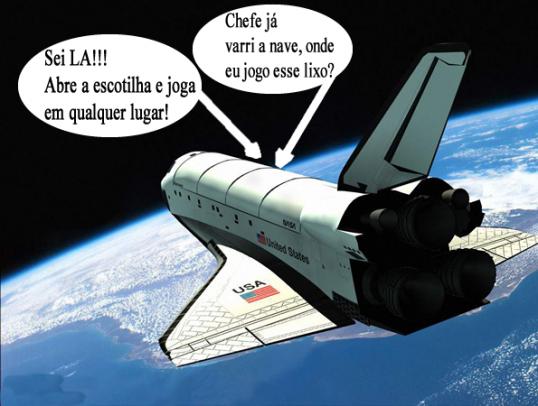 montagem lixo espacial Fotos engraçadas para postar no facebook photoshop