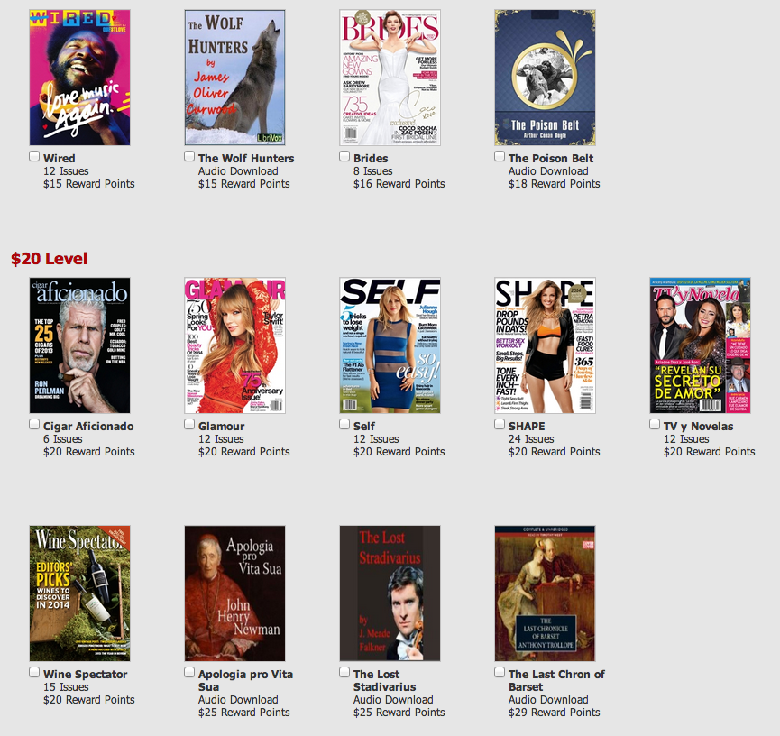Here's a look at some of the magazines you can get