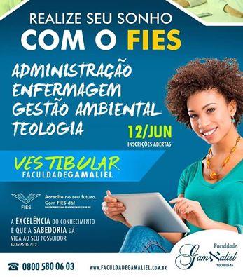 Faculdade Gamaliel informa Cursos ofertados:  Administração, Enfermagem,Gestão Ambiental e Teologia
