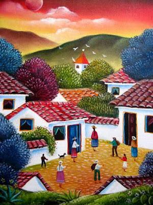 Pintor Naif Colombia