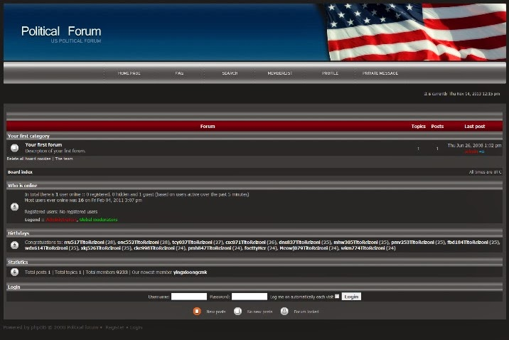 Politics Forum PhpBB Theme