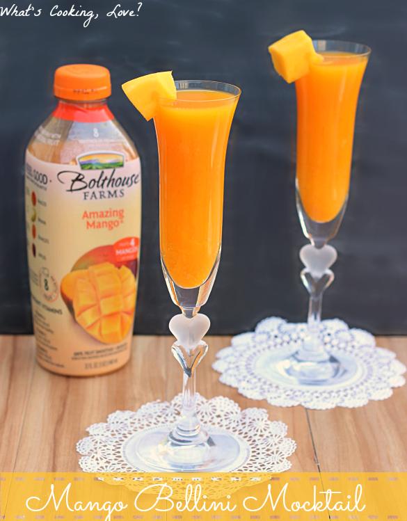 "Mango Bellini Mocktail and Juice ""Happy Hour"""