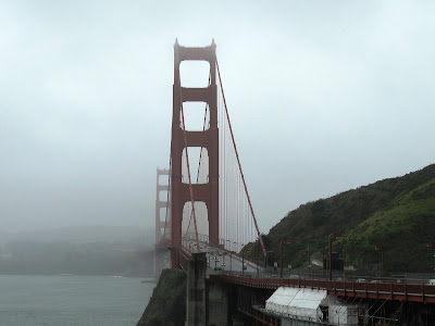 Foggy Golden Gate Bridge in San Francisco