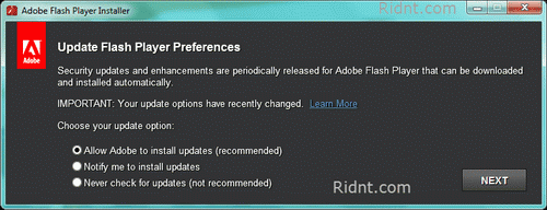 update flash player