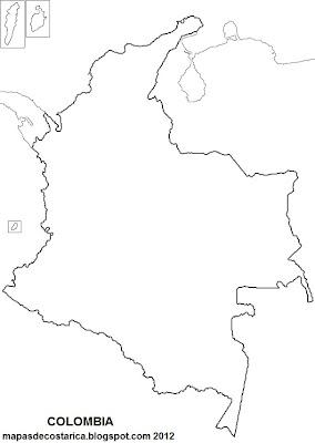 Mapa mudo de COLOMBIA
