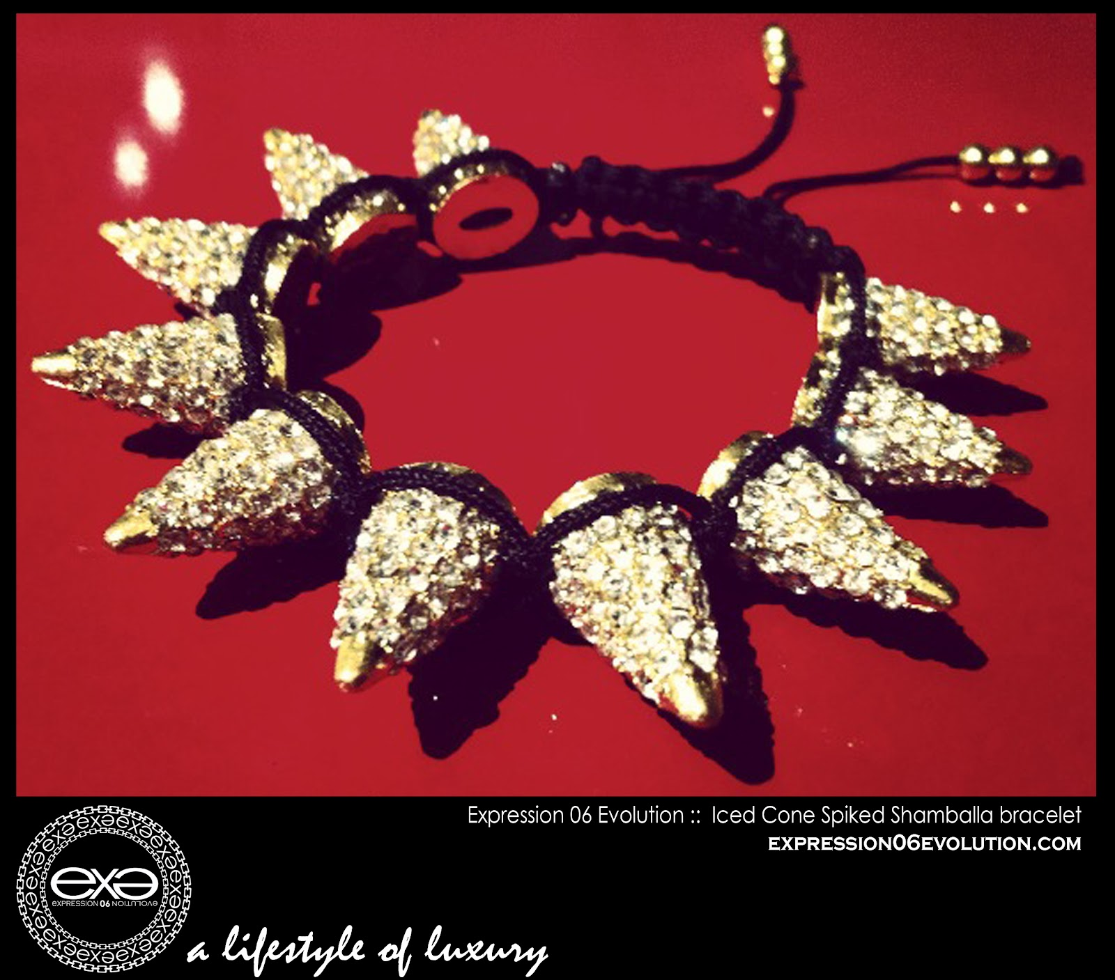 http://4.bp.blogspot.com/-uhn6gA9Ip8Q/UCY49xlJYYI/AAAAAAAAB20/XsOci8gu42M/s1600/EXPRESSION+06+EVOLUTION+-+SPIKED+SHAMBALLA+BRACLET+-+GOLD+cone+SPIKES+WITH+white+stones+-+EXPRESSIVE+CLOTHING+LLC+-+DUSHON+EX+DANIELS+-+ALEXIS+BELSKI+.jpg