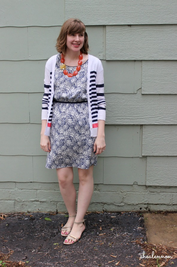 floral dress with stripes for spring | www.shealennon.com