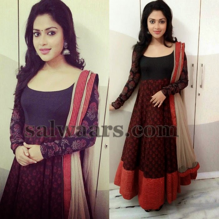 Amala Paul Dual Color Salwar