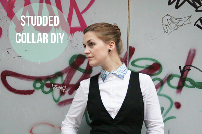 Randomly Happy | studded collar DIY
