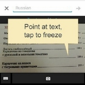 Google Translator App with Visual Translation Support for Android