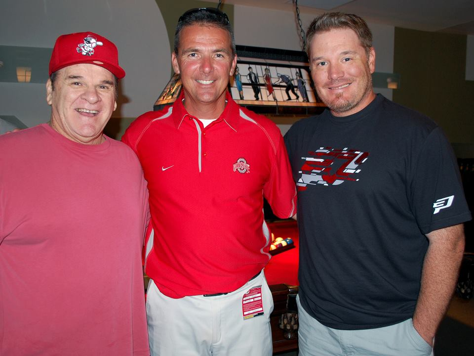Urban meyer son urban meyer with pete rose and