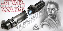 The Last Jedi Rey Broken Lightsaber