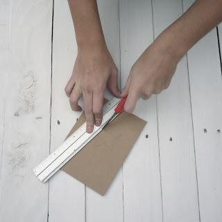 estrella de cartón diy handmade self packaging