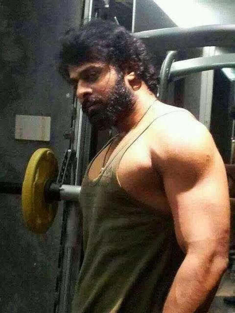 Prahbhas latest stills for bahubali movie , Hero prabhas latest photo gallery. prabhas latest movie stills. Bahubali latest movie stills. prabhas workout at Gym.