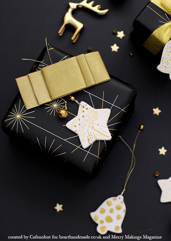 black and gold christmas gift wrap ideas