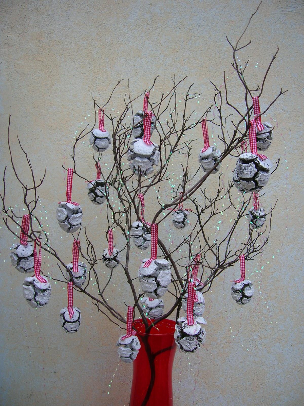 Artefantasy decorazioni natalizie country chic - Decorazioni natalizie pigne ...
