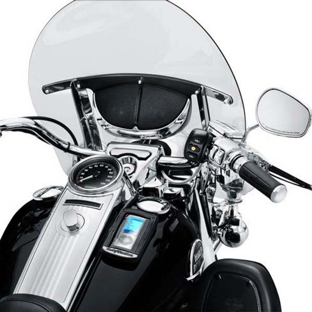Harley Boom Windshield Mount Speakers
