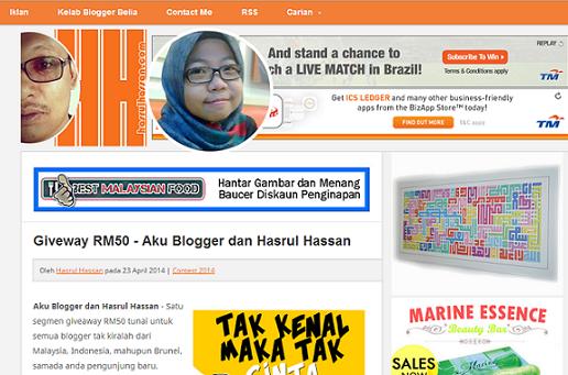 Aku Blogger Dan Hasrul Hassan
