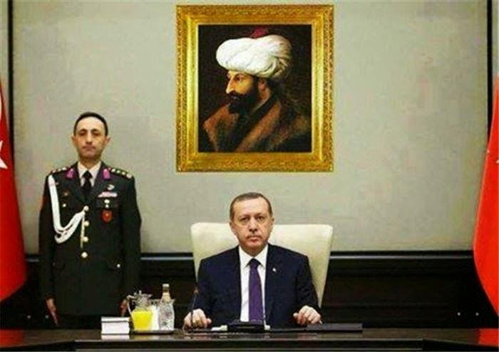 Erdogan Ganti Foto Ataturk dengan Al-Fatih