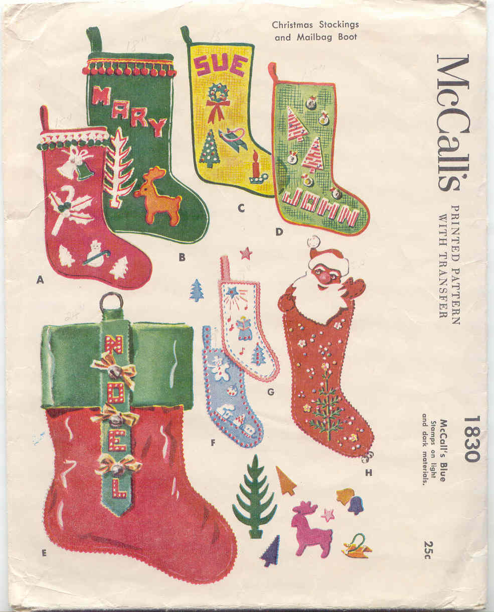 Gold Country Girls Vintage Christmas Stocking Patterns