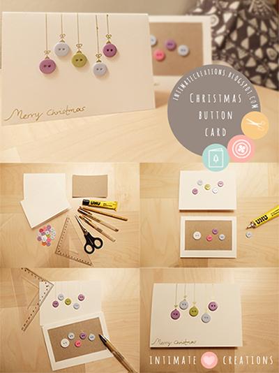 Κάρτα Χριστουγέννων με κουμπιά