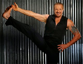 DDP Yoga Review - It Works! - DDP Diamond Dallas Page showing his DDP Yoga moves