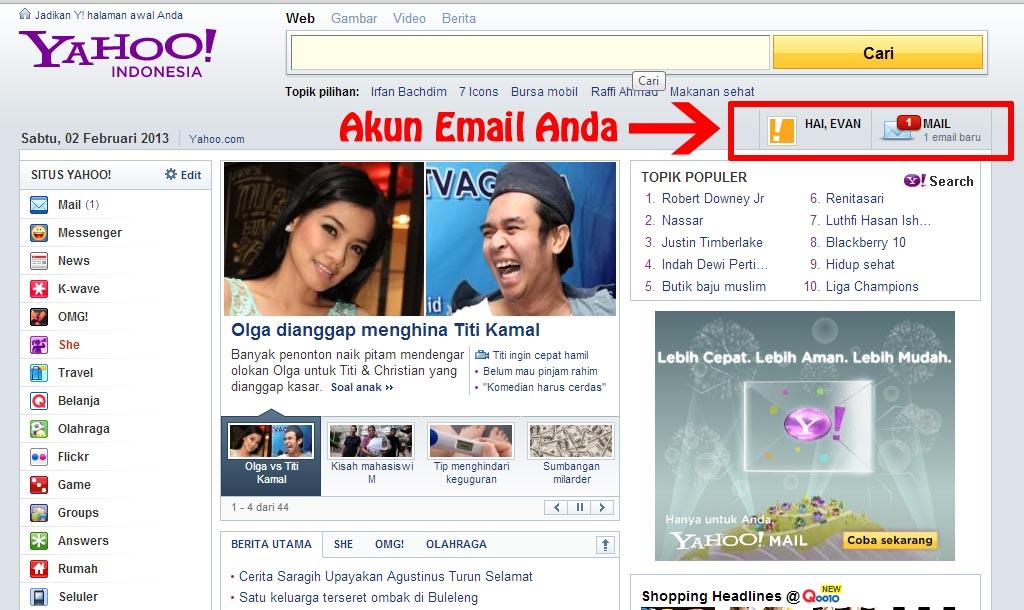 ... Langkah-Langkah Cara Membuat Email di Yahoo , semoga bermanfaat