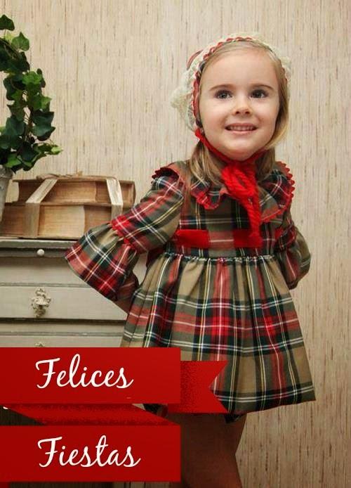 Como vestir a los niños en Navidad - vestido tartán Para Sofía