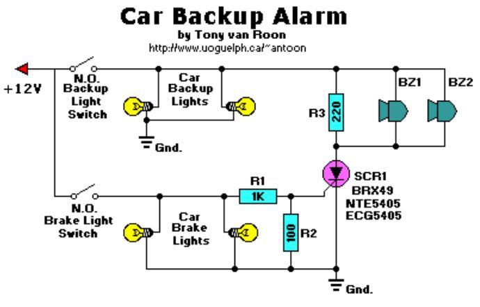 car reverse alarm circuit diagram trusted wiring diagram u2022 rh soulmatestyle co