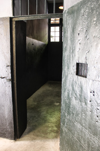 Stockade for female prisoners at Maison Centre (Hoa Lu Prison) in Hanoi, Vietnam