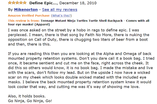 Funny Amazon Review by Mikenorton