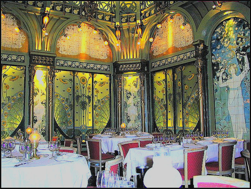... But It Was Still Delightful To Visit One Of The First Art Nouveau  Restaurants In Paris, With Its Painted Columns And Delightful Tile Murals. Part 79