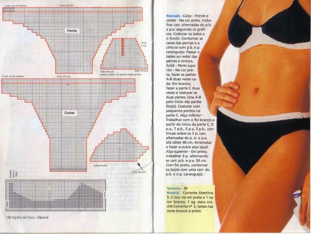 Manetes d\'Or: Patrones bikinis ganchillo