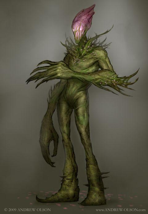 Andrew Olson ilustrações digitais fantasia arte conceitual Flor mutante