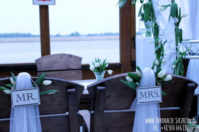 ślub w plenerze tulipany