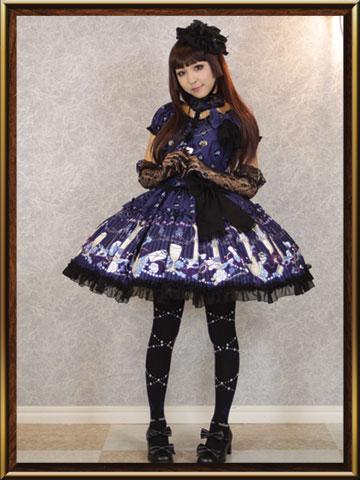 printed rococo lolita dress