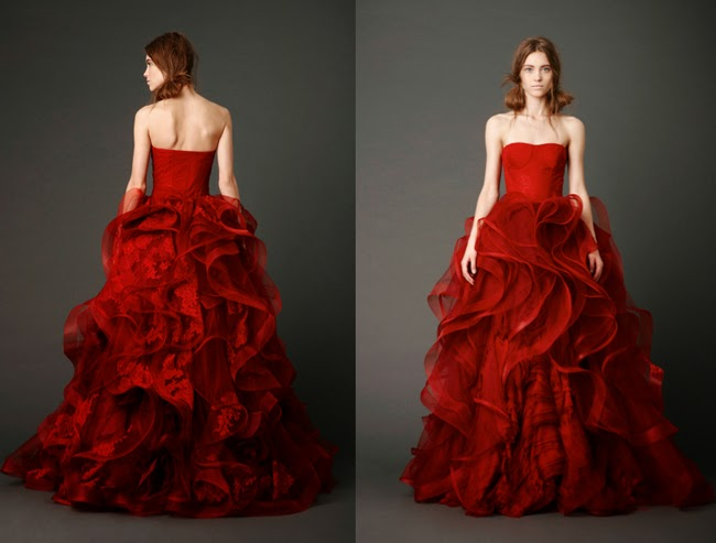 Brides On Weddings Bloody Red Wedding Dresses From Elite Designers