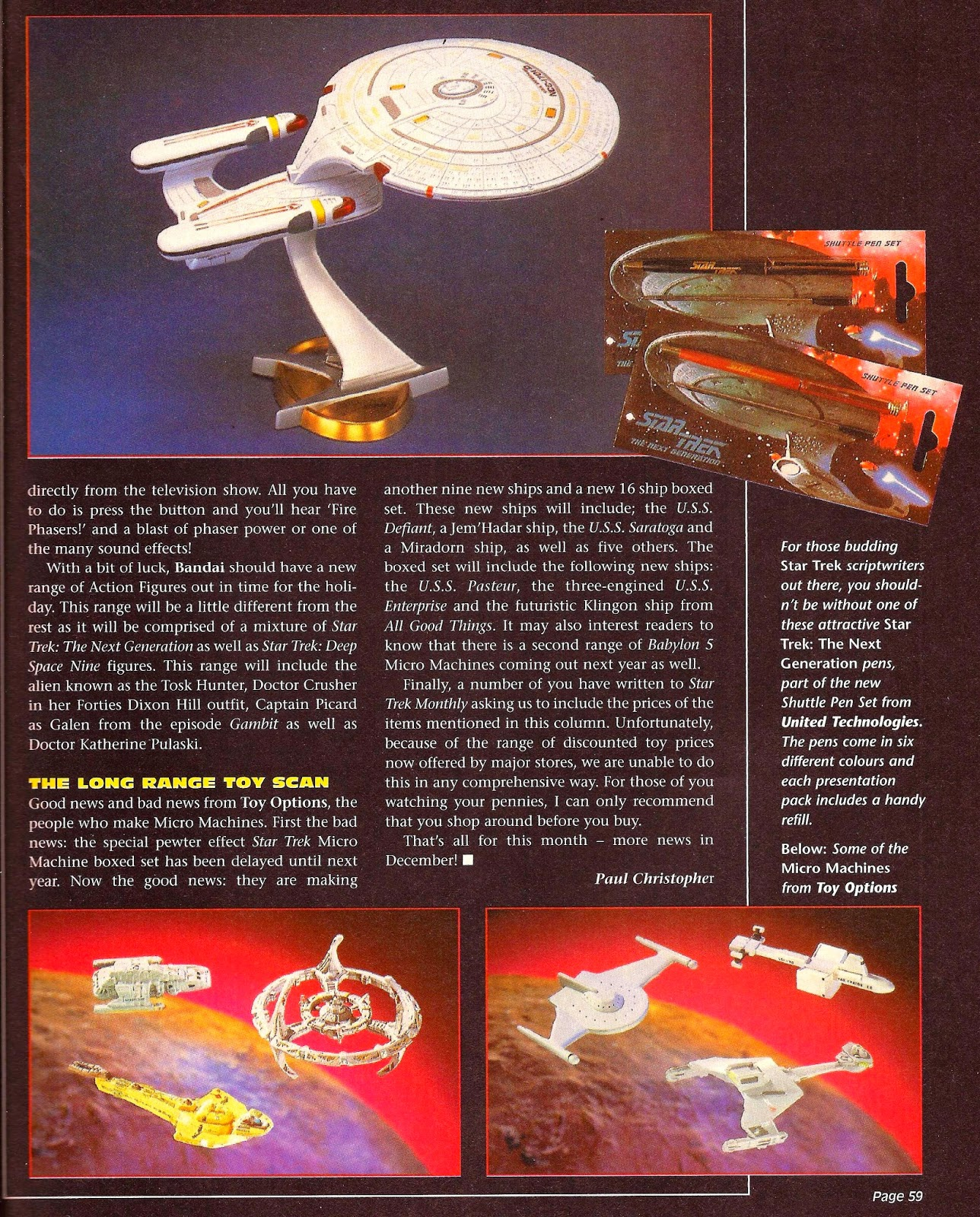 Star Trek Monthly Playmates