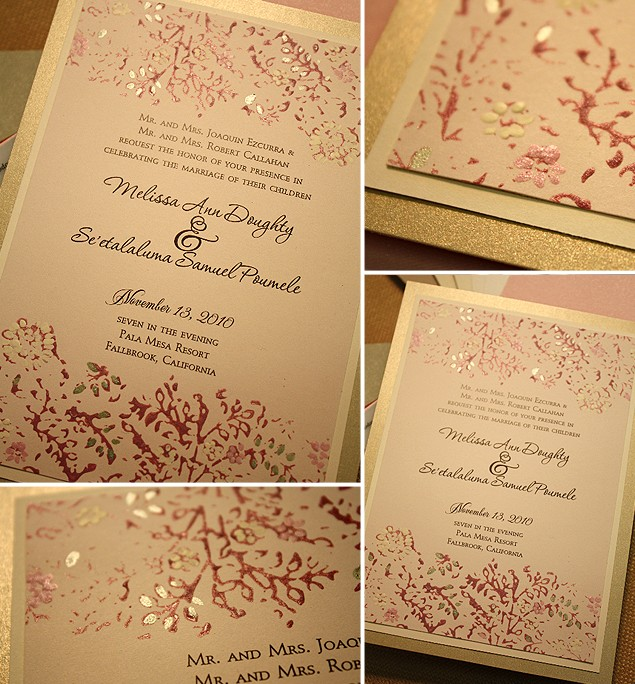 Red And Gold Wedding Invitations 015 - Red And Gold Wedding Invitations