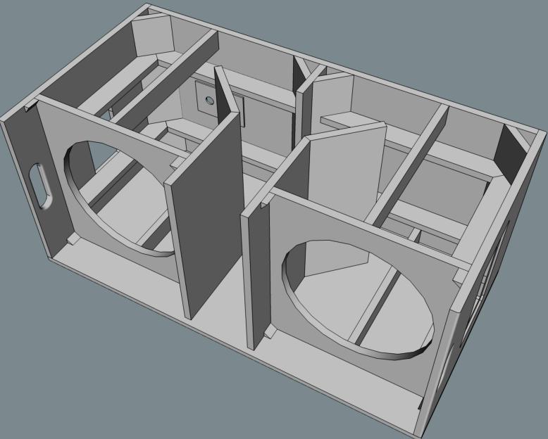 Box speaker Subwoofer 2x 15 inch